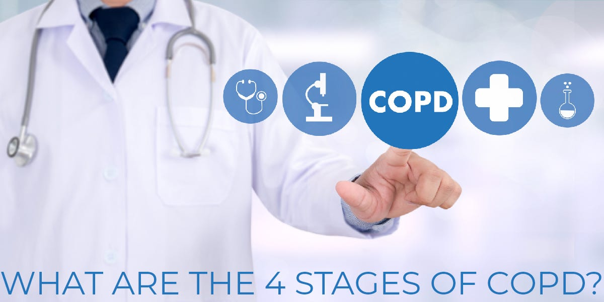 What are the 4 stages of COPD?